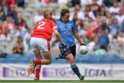 28 September 2014; Lindsay Peat, Dublin, scores her side's second goal of the game. TG4 All-Ireland Ladies Football Senior Championship Final, Cork v Dublin. Croke Park, Dublin. Picture credit: Ramsey Cardy / SPORTSFILE