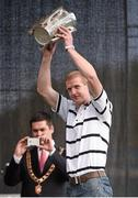 27 September 2014; Kilkenny's Henry Shefflin with the Liam MacCarthy Cup during the homecoming ceremony after winning his 10th All-Ireland Senior winners medal. All Ireland Hurling Champions return to Kilkenny. Kilkenny Picture credit: Pat Murphy / SPORTSFILE
