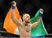 27 September 2014; Conor McGregor, after his feather weight bout victory over Dustin Poirier. UFC 178, Dustin Poirier v Conor McGregor, MGM Grand Garden Arena, Las Vegas, Nevada, USA. Picture credit: Stephen R. Sylvanie / SPORTSFILE
