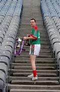 12 March 2007; Mayo footballer Keith Higgins, who was the Cadbury Hero of the Future 2006, at the launch of the 2007 Cadbury U21 Football Championship. The Cadbury Heroes of the Future is an initiative which began in 2006 to recognise and highlight the skill and commitment of U21 Footballers. Croke Park, Dublin. Picture credit: Ray McManus / SPORTSFILE