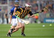 27 September 2014; Cathal Murray, Burrin Rangers Hurling club, Carlow, representing Kilkenny, in action against , Eoghan O'Brien, Kilvemnon NS, Mullinahone, Tipperary, representing Tipperary, during the INTO/RESPECT Exhibition GoGames. Croke Park, Dublin. Picture credit: Piaras O Midheach / SPORTSFILE