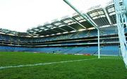 20 March 2007; A general view from the goalmouth after Republic of Ireland squad training. Croke Park, Dublin. Picture credit: David Maher / SPORTSFILE