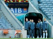 20 March 2007; Republic of Ireland players, from left, Richard Dunne, Anthony Stokes, Robbie Keane, Stephen Hunt and Paul McShane wait in the players' tunnel during squad training. Croke Park, Dublin. Picture credit: David Maher / SPORTSFILE