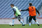 20 March 2007; Republic of Ireland's Alan Quinn in action Aiden McGeady during squad training. Croke Park, Dublin. Picture credit: David Maher / SPORTSFILE