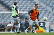 20 March 2007; Republic of Ireland's Kevin Doyle in action against his team-mate Alan Quinn during squad training. Croke Park, Dublin. Picture credit: David Maher / SPORTSFILE