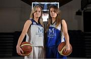 1 October 2014; Team Montenotte Hotel Cork players Eve O'Mahony, left, and Olivia Dupuy during the launch of the Basketball Ireland 2014/2015 Season. As winter approaches, Ireland's most popular indoor sport officially launched its new season today. Basketball clubs from around the country gathered at the National Basketball Arena in Tallaght for the launch of the national league season for 2014/2015. All the action gets underway this Saturday as 32 teams across 4 divisions fight it out to be the best basketballers in the country. Women's Premier League and Cup Champions Team Montenotte get their account underway against Singleton Supervalu Brunell in a Cork derby while defending Men's Champions Killester are away to DCU Saints. The draw for the National Cups also took place today. National Basketball Arena, Tallaght, Dublin. Picture credit: Brendan Moran / SPORTSFILE