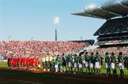 24 March 2007; A general view of Croke Park during the National Anthem. 2008 European Championship Qualifier, Republic of Ireland v Wales, Croke Park, Dublin. Picture credit: David Maher / SPORTSFILE