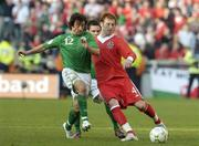 24 March 2007; James Collins, Wales, in action against Stephen Hunt, Republic of Ireland. 2008 European Championship Qualifier, Republic of Ireland v Wales, Croke Park, Dublin. Picture credit: Matt Browne / SPORTSFILE