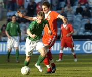 24 March 2007; Kevin Doyle, Republic of Ireland, in action against Samuel Ricketts, Wales. 2008 European Championship Qualifier, Republic of Ireland v Wales, Croke Park, Dublin. Picture credit: Matt Browne / SPORTSFILE