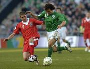 24 March 2007; Stephen Hunt, Republic of Ireland, in action against Carl Robinson, Wales. 2008 European Championship Qualifier, Republic of Ireland v Wales, Croke Park, Dublin. Picture credit: Matt Browne / SPORTSFILE