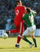 24 March 2007; Robbie Keane, Republic of Ireland, in action against Carl Robinson, Wales. 2008 European Championship Qualifier, Republic of Ireland v Wales, Croke Park, Dublin. Picture credit: David Maher / SPORTSFILE