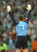 24 March 2007; Republic of Ireland goalkeeper Shay Given celebrates at the final whistle. 2008 European Championship Qualifier, Republic of Ireland v Wales, Croke Park, Dublin. Picture credit: Brian Lawless / SPORTSFILE