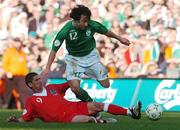 24 March 2007; Stephen Hunt, Republic of Ireland, in action against Carl Robinson, Wales. 2008 European Championship Qualifier, Republic of Ireland v Wales, Croke Park, Dublin. Picture credit: David Maher / SPORTSFILE