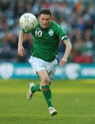 24 March 2007; The Republic of Ireland captain Robbie Keane during the game. 2008 European Championship Qualifier, Republic of Ireland v Wales, Croke Park, Dublin. Picture credit: David Maher / SPORTSFILE