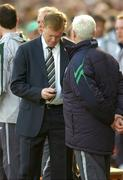 24 March 2007; Republic of Ireland manager Steve Staunton checks his phone before the match. 2008 European Championship Qualifier, Republic of Ireland v Wales, Croke Park, Dublin. Picture credit: Brian Lawless / SPORTSFILE