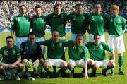 24 March 2007;  Republic of Ireland team, back row left to right, Jonathan Douglas, Steve Finnan, Kevin Kilbane, John O'Shea, Richard Dunne and Paul McShane, front row left to right, Robbie Keane, Shay Given, Lee Carsley, Damien Duff and Stephen Ireland. 2008 European Championship Qualifier, Republic of Ireland v Wales, Croke Park, Dublin. Picture credit: David Maher / SPORTSFILE