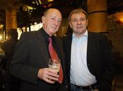 23 March 2007; Former Republic of Ireland Internationals Mick Martin and Ray Houghton attend an International dinner hosted by the Football Association of Ireland. Burlington Hotel, Dublin. Picture credit: David Maher / SPORTSFILE