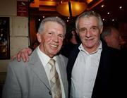 23 March 2007; Johnny Giles and Eamon Dunphy attend an International dinner hosted by the Football Association of Ireland. Burlington Hotel, Dublin. Picture credit: David Maher / SPORTSFILE