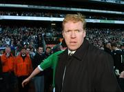 24 March 2007; Republic of Ireland manager Steve Staunton at the end of the game. 2008 European Championship Qualifier, Republic of Ireland v Wales, Croke Park, Dublin. Picture credit: David Maher / SPORTSFILE