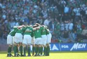 24 March 2007; The Republic of Ireland team huddle before the match. 2008 European Championship Qualifier, Republic of Ireland v Wales, Croke Park, Dublin. Picture credit: Brian Lawless / SPORTSFILE