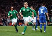 28 March 2007; Kevin Doyle, Republic of Ireland, after scoring his side's first goal. 2008 European Championship Qualifier, Republic of Ireland v Slovakia, Croke Park, Dublin. Picture credit: Brian Lawless / SPORTSFILE