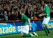 28 March 2007; Republic of Ireland's Kevin Doyle, with team-mate Stephen Ireland after scoring his side's first goal. 2008 European Championship Qualifier, Republic of Ireland v Slovakia, Croke Park, Dublin. Picture credit: Brian Lawless / SPORTSFILE