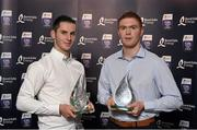 11 October 2014; Tipperary Under 21 hurlers Cathal Barrett, left, and Jason Forde, who were named on the Bord Gáis Energy All-Ireland GAA Hurling Under 21 Team of the Year. Bord Gáis Energy All-Ireland GAA Hurling Under 21 Team of the Year Awards, Croke Park, Dublin. Picture credit: Paul Mohan / SPORTSFILE