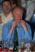 5 June 2002; Former Republic of Ireland Manager Jack Charlton watches the Republic of Ireland v Germany match in the FIFA World Cup Finals. RDS, Ballsbridge, Dublin. Picture credit Aoife Rice / SPORTSFILE