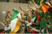 5 June 2002; Republic of Ireland fans celebrates Robbie Keane's goal against Germany. FIFA World Cup Finals, Group E, Republic of Ireland v Germany, Ibaraki Stadium, Ibaraki, Japan. Picture credit: David Maher / SPORTSFILE