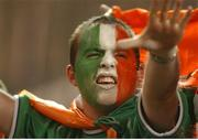 5 June 2002; A Republic of Ireland supporter during the game. FIFA World Cup Finals, Group E, Republic of Ireland v Germany, Ibaraki Stadium, Ibaraki, Japan. Picture credit: David Maher / SPORTSFILE