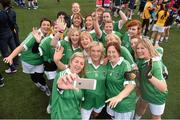 18 October 2014; Players from Sabhall, Co. Down, take a selfie during the TESCO Homegrown Gaelic4Mother & Others National Blitz Day. Naomh Mearnóg GAA Club, Portmarnock, Co. Dublin. Picture credit: Stephen McCarthy / SPORTSFILE