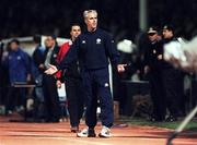 17 November 1999; Republic of Ireland manager Mick McCarthy during the UEFA European Championships Qualifier Play-Off Second Leg match between Turkey and Republic of Ireland at the Ataturk Stadium in Bursa, Turkey. Photo by David Maher/Sportsfile