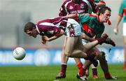15 April 2007; Niall Coyne, Galway, in action against Alan Dillon, Mayo. Allianz National Football League Semi - Final, Division 1, Mayo v Galway, Croke Park, Dublin. Picture credit; David Maher / SPORTSFILE