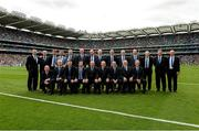 7 September 2014; The Tipperary Jubilee team of 1989, back row, from left, John Madden, John Heffernan, John Kennedy, Joe Hayes, Declan Ryan, Richie Stakelum, Declan Carr, Donie O'Connell, Noel Sheehy, John Cormack, Conor O'Donovan, Aidan Ryan, John Leamy and Pat McGrath; front row, from left, Paul Delaney, Nicky English, Michael Cleary, Pat Fox, John Leahy, Bobby Ryan, Conal Bonnar, Cormac Bonnar and Colm Bonnar. GAA Hurling All-Ireland Senior Championship Final, Kilkenny v Tipperary, Croke Park, Dublin. Picture credit: Piaras Ó Mídheach / SPORTSFILE