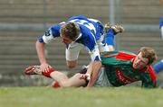 21 April 2007; Colm Boyle, Mayo, tackles Craig Rogers, Laois, and is sent off shortly after. Cadbury All-Ireland U21 Football Championship Semi-final, Mayo v Laois, Dr Hyde Park, Co. Roscommon. Picture credit; Paul Mohan / SPORTSFILE