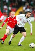21 April 2007; Gary Hamilton, Glentoran, in action against George McMullan, Cliftonville. Carnegie Premier League, Cliftonville v Glentoran, Solitude, Belfast, Co. Antrim. Picture credit; Russell Pritchard / SPORTSFILE