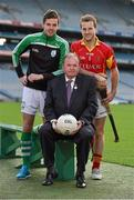 21 October 2014; The GAA is pleased to announce the staging of the second national club draw which was launched in Croke Park today. The draw, which was embraced by clubs earlier this year, will take place on February 27th, 2015 at Congress and has been organised with the intention of assisting clubs in their fundraising activities. In attendence at the launch are from left,  Donegal footballer Odhran Mac Niallais, Uachtarán Chumann Lúthchleas Gael Liam Ó Néill, and Tipperary hurler Kieran Bergin. National Club Draw launch. Croke Park, Dublin. Picture credit: Barry Cregg / SPORTSFILE