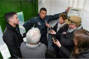 21 October 2014; Connacht head coach Pat Lam speaking to members of the media during a press conference ahead of their European Rugby Challenge Cup, Pool 2, Round 2, match against Exeter Chiefs on Saturday. The Sportsground, Galway. Picture credit: Diarmuid Greene / SPORTSFILE