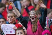 23 October 2014; St. Colmcille's SNS, Knocklyon, supporters watch the Austin Finn Shield final. Allianz Cumann na mBunscol Finals, Croke Park, Dublin. Picture credit: Pat Murphy / SPORTSFILE