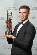 24 October 2014; Tipperary hurler Brendan Maher with his 2014 GAA GPA All-Star award at the 2014 GAA GPA All-Star Awards, sponsored by Opel. Convention Centre, Dublin. Picture credit: Paul Mohan / SPORTSFILE