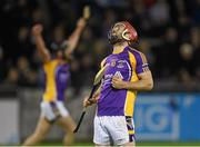 24 October 2014; Kilmacud Crokes' Ryan O'Dwyer celebrates at the final whistle. Dublin County Senior Hurling Championship Final, St Judes v Kilmacud Crokes, Parnell Park, Dublin. Picture credit: Pat Murphy / SPORTSFILE