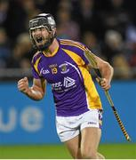 24 October 2014; Kilmacud Crokes' Jude Sweeney celebrates at the final whistle. Dublin County Senior Hurling Championship Final, St Judes v Kilmacud Crokes, Parnell Park, Dublin. Picture credit: Pat Murphy / SPORTSFILE