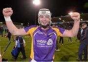 24 October 2014; Jack Doughan, Kilmacud Crokes, celebrates after the game. Dublin County Senior Hurling Championship Final, St Judes v Kilmacud Crokes, Parnell Park, Dublin. Picture credit: Pat Murphy / SPORTSFILE