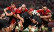 24 October 2014; Mouritz Botha, Saracens, in action against Robin Copeland, left, Paul O'Connell, and Billy Holland, Munster. European Rugby Champions Cup 2014/15, Pool 1, Round 2, Munster v Saracens. Thomond Park, Limerick. Picture credit: Diarmuid Greene / SPORTSFILE