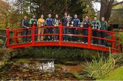 25 October 2014; The AIB Leinster GAA Club Championship was launched today, hosted by Irish National Stud and Gardens. Pictured at the launch are club captains, from left, Dessie Brennan, Eadestown GAA, Joe McCormack, Emmet Og Killoe, Co. Longford, Kenneth Garry, vice-captain, Rhode, Co. Offaly, Niall McKeigue, Navan O'Mahony's, Co. Meath, Cahir Healy, Portlaoise, Co. Laois, Brendan Murphy, Rathvilly, Co. Carlow, Conor Jordan, Raharney, Co. Westmeath, Alan Delaney, Rathdowney Erril, Co. Laois, Dan Currams, Kilcormac/Killoughey, Co. Offaly and John Doran, St. Mullins, Co. Carlow. Irish National Stud and Japanese Gardens, Tully, Co. Kildare. Picture credit: Pat Murphy / SPORTSFILE