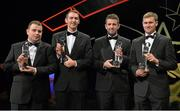 24 October 2014; Fermanagh players, from left, Mark Curry, Mark Slevin, Eoin Morrissey and Francis McBrien, with their Lory Meagher Champions 15 Awards at the 2014 GAA GPA All-Star Awards, sponsored by Opel. Not in attendance was Martin Coyle. Convention Centre, Dublin. Picture credit: Brendan Moran / SPORTSFILE