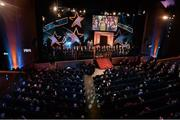 24 October 2014; The 2014 GAA GPA Hurling and Football teams on stage during the 2014 GAA GPA All-Star Awards, sponsored by Opel. Convention Centre, Dublin. Picture credit: Brendan Moran / SPORTSFILE