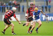 26 October 2014; Shane Gleeson, Cratloe, in action against Alan Kirwan, left, and Barry O'Sullivan, Ballygunner. AIB Munster GAA Hurling Senior Club Championship, Quarter-Final, Ballygunner v Cratloe, Walsh Park, Waterford. Picture credit: Matt Browne / SPORTSFILE