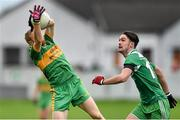 26 October 2014; Niall Darby, Rhode, in action against Owen O'Connor, St Patrick's. AIB Leinster GAA Football Senior Club Championship, First Round, Rhode v St Patrick's, O'Connor Park, Tullamore, Co. Offaly. Picture credit: Ramsey Cardy / SPORTSFILE