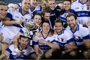 27 October 2014; St Vincent's players celebrate with the cup after the game. Dublin County Senior Football Championship Final, St Oliver Plunketts Eogha Rua v St Vincent's. Parnell Park, Dublin. Picture credit: Stephen McCarthy / SPORTSFILE
